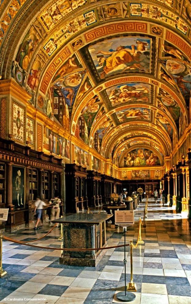 Real Biblioteca del Monasterio de San Lorenzo de El Escorial. San Lorenzo de El Escorial. Comunidad de Madrid